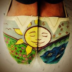 cute decorated toms!
