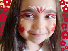 doll face painting a bit of this & a bit of that: {canada day facepainting} Kids Makeup, Day Makeup, Face Painting Designs, Body Painting, Diy Face Paint, Canada Day Crafts, Activities For Kids, Crafts For Kids, Flag Face