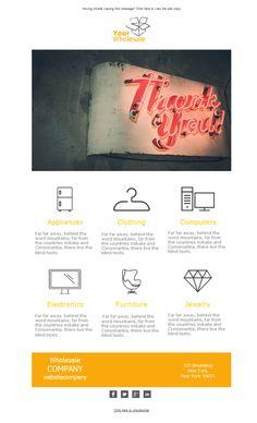 Tus mejores productos y ofertas de tu negocio de venta al por mayor a la vista de todos gracias a las plantillas newsletter de Mailify.