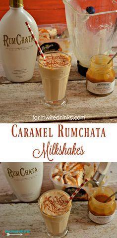 Caramel Rumchata Milkshake mixes rumchata with caramel gelato or ice cream . This Caramel Rumchata Milkshake mixes rumchata with caramel gelato or ice cream .This Caramel Rumchata Milkshake mixes rumchata with caramel gelato or ice cream . Rumchata Drinks, Easy Alcoholic Drinks, Alcholic Drinks, Rumchata Recipes Shots, Baileys Drinks, Bourbon Drinks, Horchata, Dessert Drinks, Party Drinks