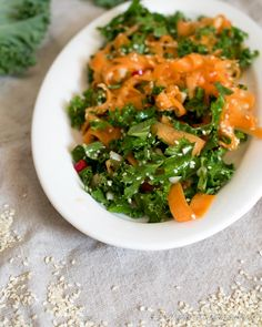 Carrot & Kale Salad with Asian Dressing
