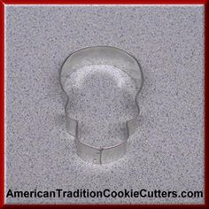 This is a 3 inch Skull Cookie Cutter. It is 1 inch high.  It is made in the USA. All cookie cutters are $0.90 each.