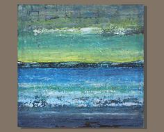 abstract painting abstract ocean painting by SageMountainStudio