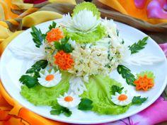 Салат Моника - пошаговый рецепт с фото: Очень вкусный, нежный и сочный салатик. Готовится очень быстро из самых доступных продуктов. Такой салат с достоинством украсит... - Леди Mail.Ru