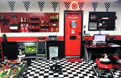 Dad can always use a helping hand in the shop, no matter how small that hand might be! Another great customer photo submission from a wonderful customer of their colorful shop! Don't be afraid to mix it up in your work space with multiple pegboard colors. Wall Control Pegboard comes in a total of 10 different finishes so no matter what theme you're going for, we can help!