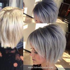 10 hippe korte modellen voor dames die voor een grijze haarkleur willen gaan! - Kapsels voor haar