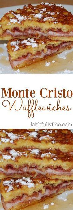 Amazing Monte Cristo Wafflewiches Recipe