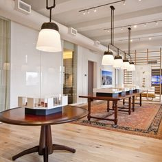 And Objects custom Orford pendants by The Urban Electric Company in New York show apartment