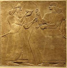 relief panels neo assyrian ashurnasirpal II 883-859 bc nimrud