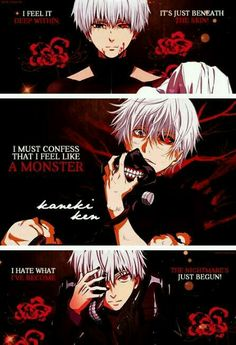 Find images and videos about anime, tokyo ghoul and kaneki on We Heart It - the app to get lost in what you love. Awesome Anime, Anime Love, Anime Guys, Sad Anime Quotes, Manga Quotes, Noragami, Tokyo Ghoul Quotes, Mega Anime, Ken Kaneki Tokyo Ghoul