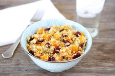Quinoa Salad with Butternut Squash, Dried Cranberries & Pepitas