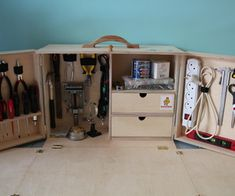 Make a Portable Workstation - This idea could be used for other types of workspaces.