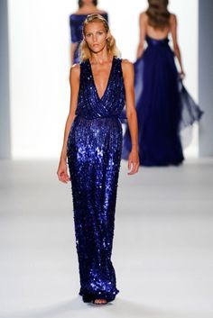 Blue and sequins. Two of my favorite things all rolled into one gown.