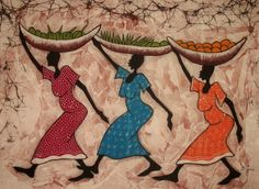 African  Ladies going to market