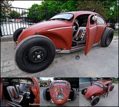 vw cox hot road rouge