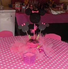 Decoración para fiestas de Minnie Mouse.