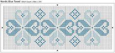 graficos ponto cruz toalhas arabesco - Pesquisa Google
