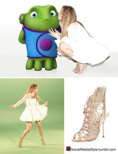 "Buy Jennifer Lopez's ""Feel The Light"" Music Video Strappy Rose Gold Sandals, here!"
