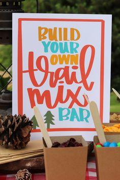 Build your own trail mix bar - A girl and a glue gun