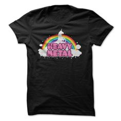 Heavy metal Funny Rainbow Unicorn T-Shirts, Hoodies. GET IT ==► https://www.sunfrog.com/Funny/Heavy-metal-Funny-Rainbow-Unicorn.html?id=41382