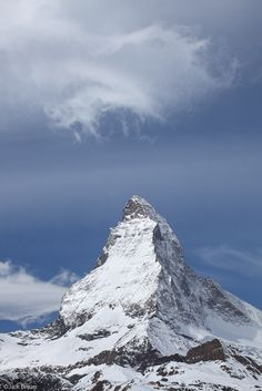 Matterhorn, cloud, Zermatt, Switzerland, photo http://zermatt.hifromswitzerland.com #switzerland #schweiz #swiss
