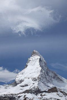 Matterhorn, cloud, Zermatt, Switzerland, photo