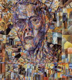 Pavel Filonov. Head. 1935. Oil on paper.