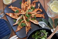 Check out this delicious recipe for Barbecued Prawns from Weber—the world's number one authority in grilling. Braai Recipes, Summer Grilling Recipes, Dog Recipes, Lemon Recipes, Seafood Recipes, Barbecued Prawns, Bbq Prawns, Sin Gluten, Butterfly Prawns