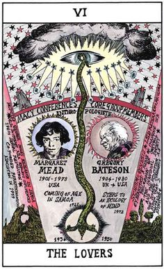 VI THE LOVERS: Margaret Mead and Gregory Bateson, HEXEN 2.0 TAROT by Suzanne Treister