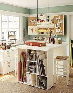 tall desk, wall cabinet