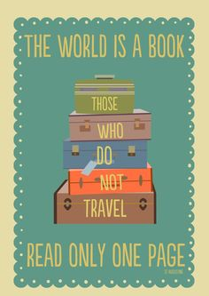 The world is a book... #TravelTuesday #Travel #Books