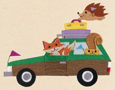 Road Trip Critters   Urban Threads: Unique and Awesome Embroidery Designs