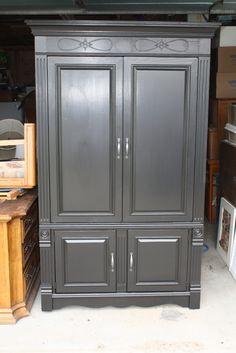 Stunning Black Armoire