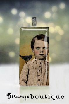 Vintage photo pendant