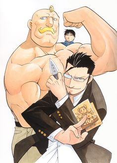 Maes Hughes, Alex Armstrong, and Roy Mustang. Some of my favorite characters!!!! Then again, I love them all :P
