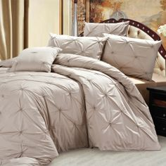 Sofia 3 Piece Duvet Cover Set In Taupe