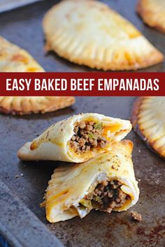 These are little savory pastry pockets of love! These Ground Beef Empanadas recipe is the absolute easiest way to make these babies at home! Flaky, buttery pastry on the outside with a savory, smokey, salty ground beef filling. You can make them all ahead and freeze so you can later bake them off one by one as a snack or all at once for dinner or a party! And incredibly easy to make with only a few steps. #empanadarecipe #empanadas #groundbeefrecipes Beef Empanadas, Empanadas Recipe, Yummy Appetizers, Appetizer Recipes, Easy Family Meals, Easy Meals, Savory Pastry, Healthy Comfort Food, Ground Beef Recipes