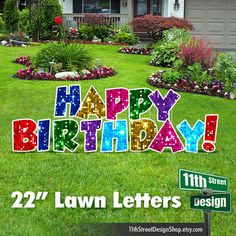 Happy Birthday Yard Signs, Unicorn Birthday Parties, 10th Birthday, Party Props, Party Signs, Balloons And More, Outdoor Birthday, Birthday Letters, Yard Art