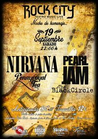 Homenaje a Nirvana y Pearl Jam en Rock City Valencia en Sala Rock City, Almàssera