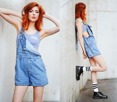 Nordic Poetry Dungarees, Dream But Do Not Sleep Crop Top, Front Row Shop Socks, Rocket Dog Boots