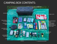 This is a great idea!  Maybe we'd camp more often if I had a box packed and ready to go all the time.