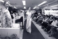 Hess's spectacular promotions brought in-store fashions show to seated visitors.