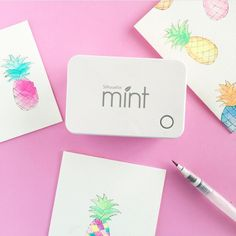 Mmm don't Mint projects just make your heart skip a beat? @kimberdawnco is using for a pineapple project that is too adorable not to share! #SilhouetteMint #StampAllTheThings #diy #abmlifeiscolorful by silhouetteamerica
