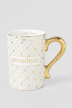 Ceramic Gold Grandma Mug $16.00