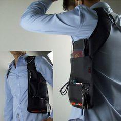 Hidden Oxter Invisible Crossbody Bag Multi-functional Burglarproof Storage Bag