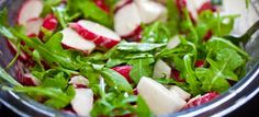 Love shows, chefs and recipes? Find the best recipe ideas, videos, healthy eating advice, party ideas and cooking techniques from top chef Radish Salad, Seaweed Salad, Salad Works, New Recipes, Veggie Recipes, Side Salad, Green Beans, Spinach, Good Food