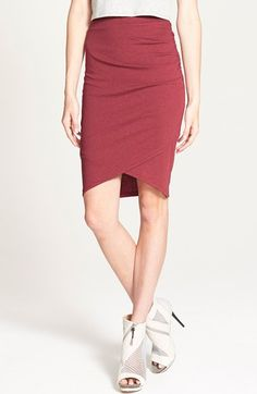 Leith Ruched Body Con Skirt available at #Nordstrom