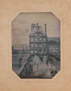 Marie Charles Isidore Choiselat - Parade on the Pont Royal, 1 may 1844 Palais Des Tuileries, Tuileries Paris, Pont Royal, Pont Paris, 1. Mai, Eugene Atget, Romantic Paris, Photo Print, Old Photography