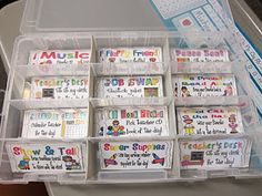 No more treasure box! Great behavior coupons. I love the ideas in here, like Show & Tell. Students get to pick rewards that are meaningful to them! I think this is great for starting kids on the path to intrinsic motivation. I also love the container they are in!!