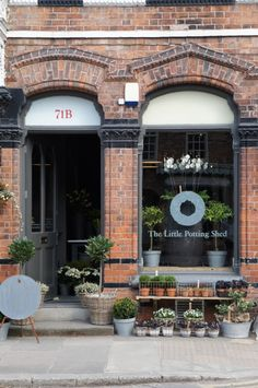 The Little Potting Shed || Cheshire, England #shop #window #display